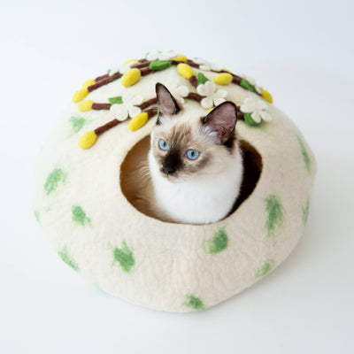 Cherry Blossom Cat Cave | Pet Bed