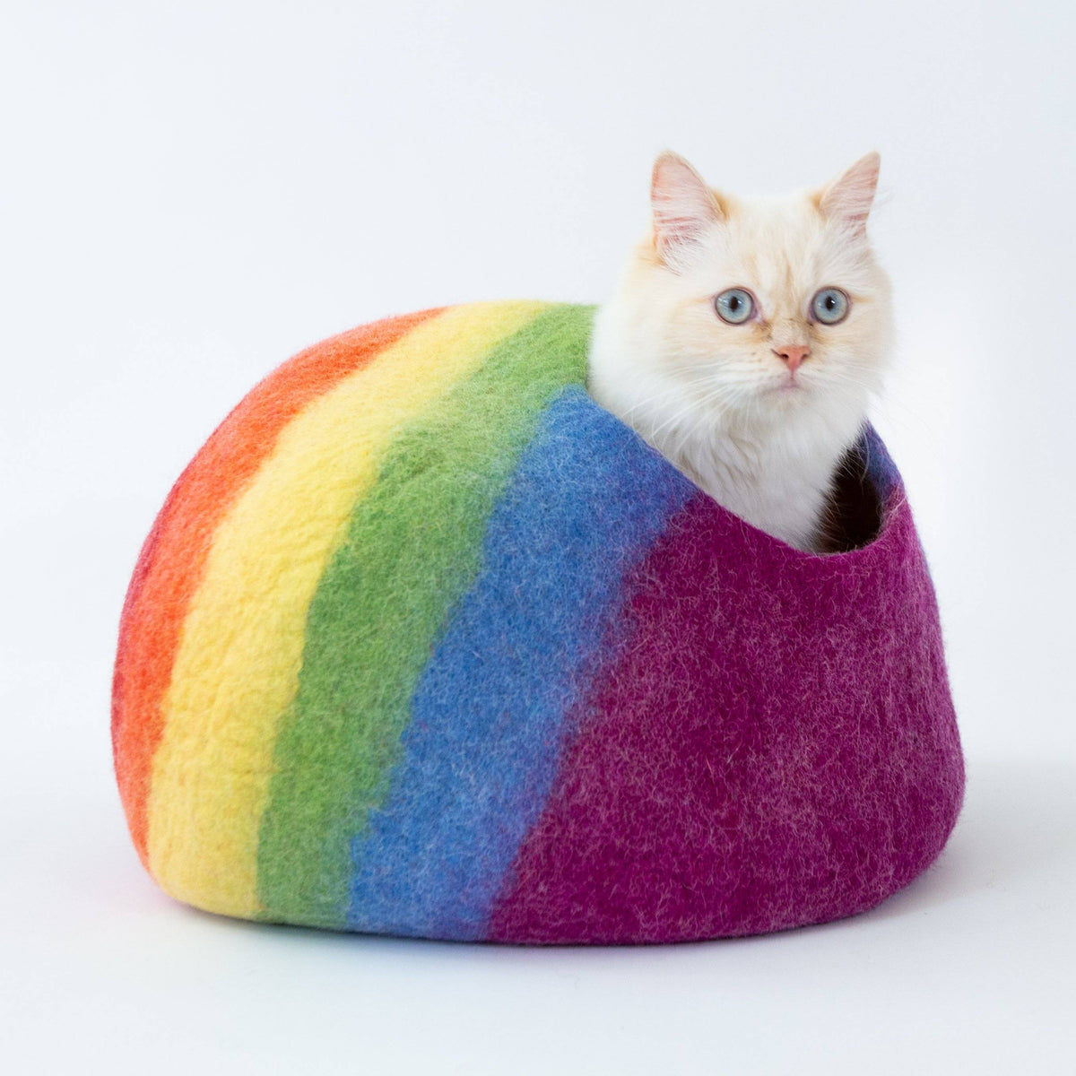 Rainbow Cat Cave | Pet Bed