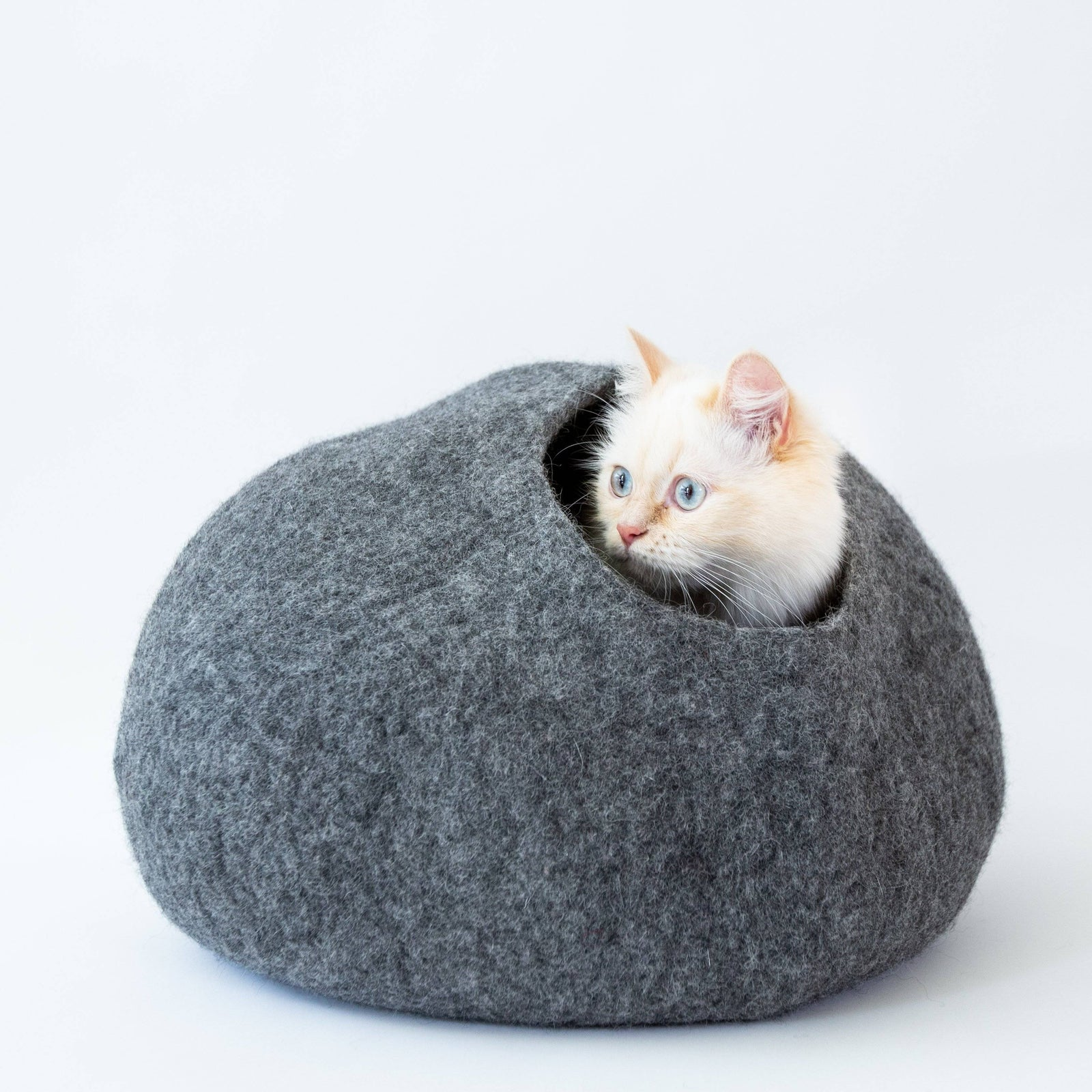 Picture of: Cat Cave Co Luxury Felted Wool Hand Made Cat Beds