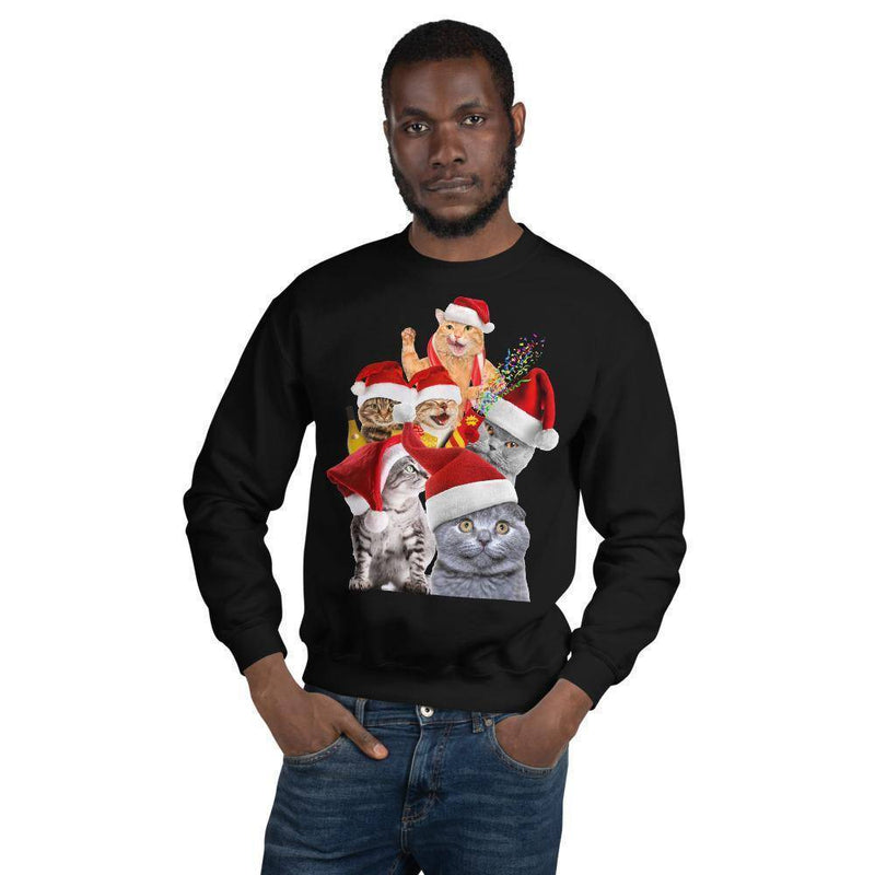 Crazy Cats © | Unisex Christmas Sweatshirt