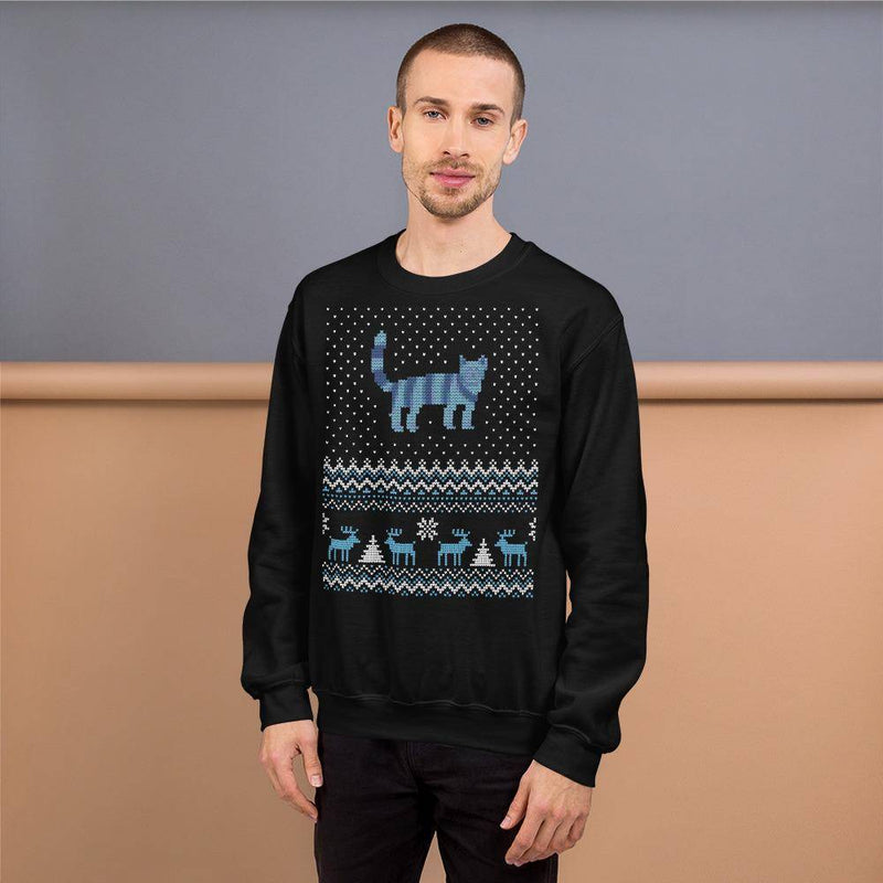 Blue Ugly Christmas Sweater © | Unisex Sweatshirt
