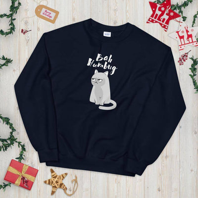 Bah Humbug Kitty © | Unisex Christmas Sweatshirt