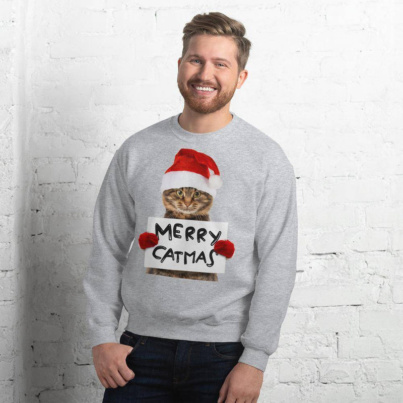 Merry Catmas Ugly Christmas Sweater © | Unisex Sweatshirt