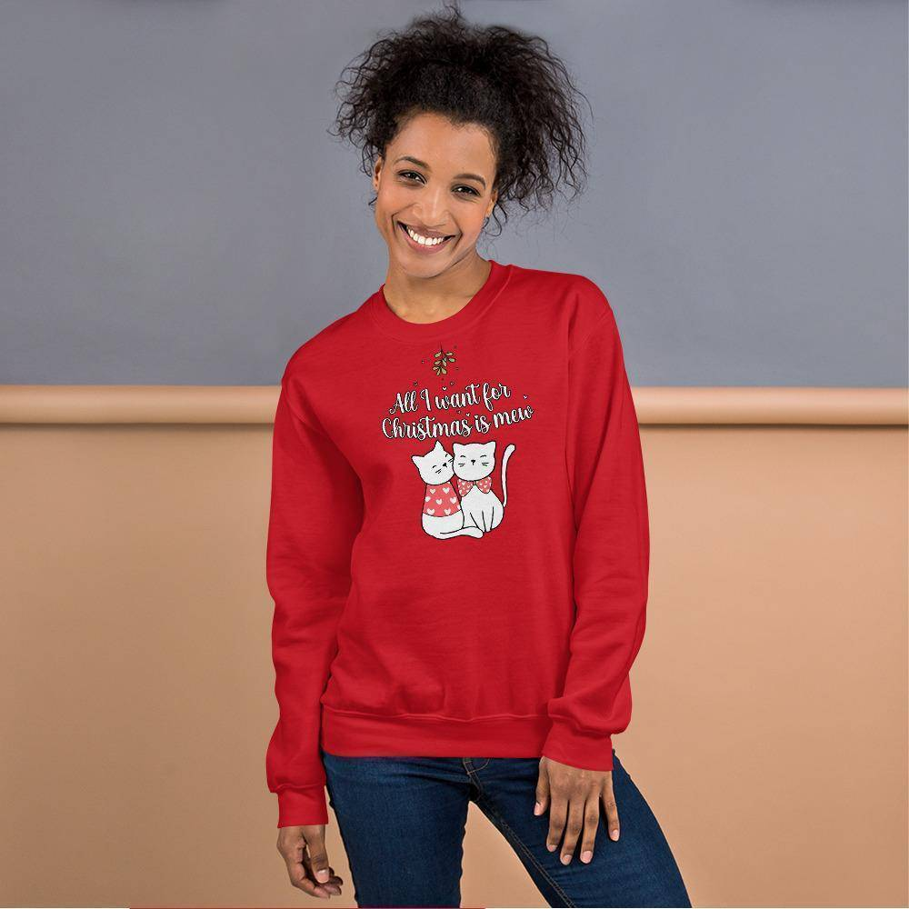 All I Want For Christmas Is Mew © | Unisex Christmas Sweatshirt