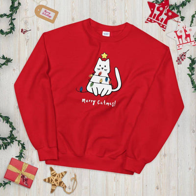 Catmas Tree © | Unisex Christmas Sweatshirt