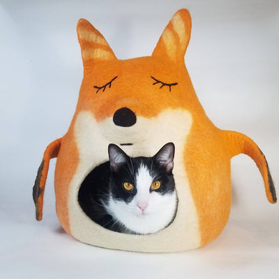 3D Fox Cat Cave | Pet Bed