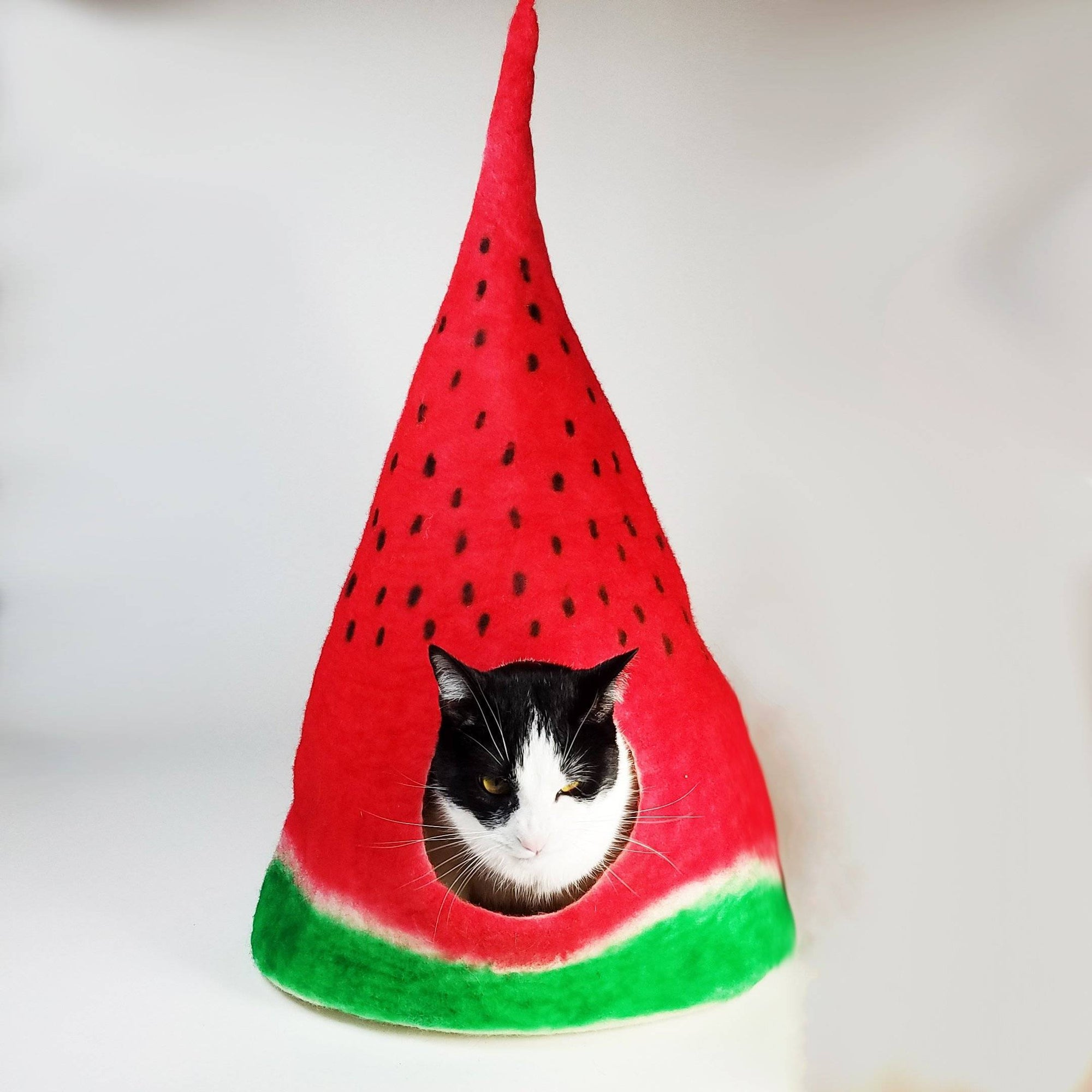 Watermelon Cat Cave | Pet Bed