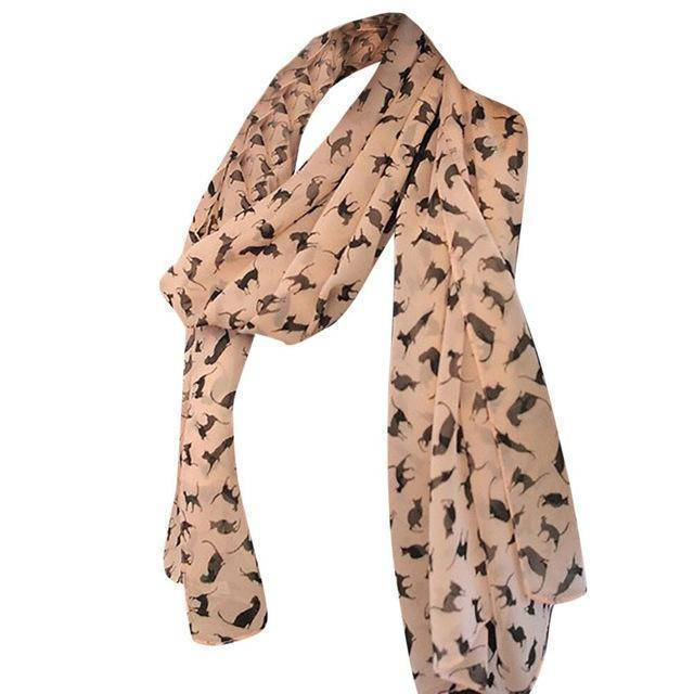 Little Cats Chiffon Cat Scarf