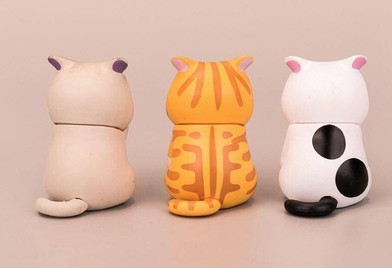 Set of 3 Toy Cat Cake Toppers | Cake Decoration