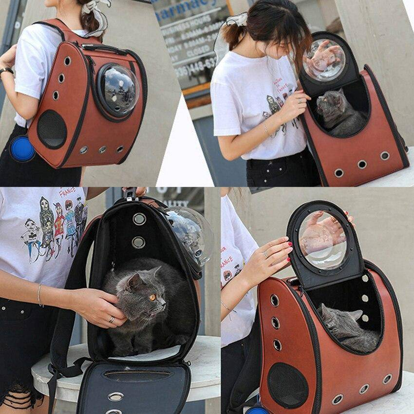 Breathable Travel Cat Carrier Backpack | Hooman Clothing