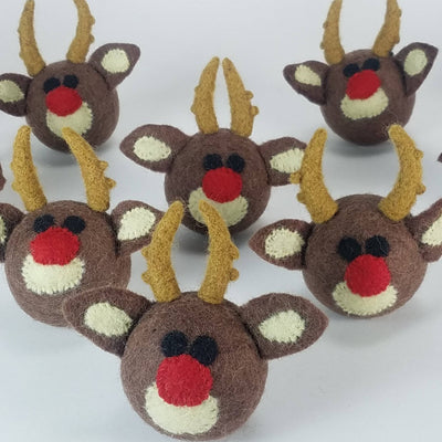 Reindeer Ball Wool Toy