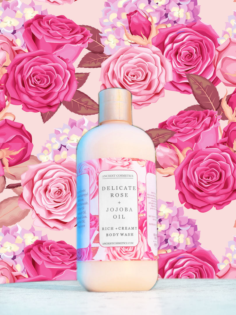 Delicate Rose & Jojoba Oil Body Wash