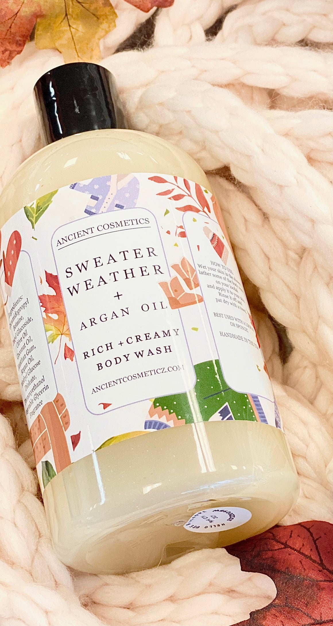 Sweater Weather + Argan Oil Body Wash