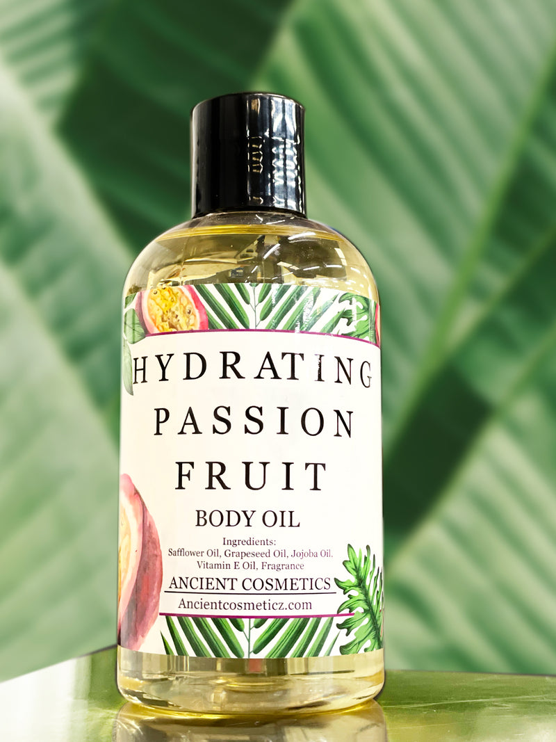 Hydrating Passion fruit body oil. Natural Body Oil