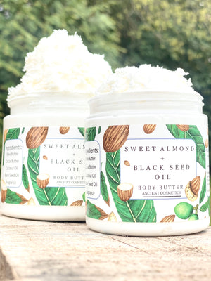Sweet Almond + Black Seed Oil Whipped Body Butter