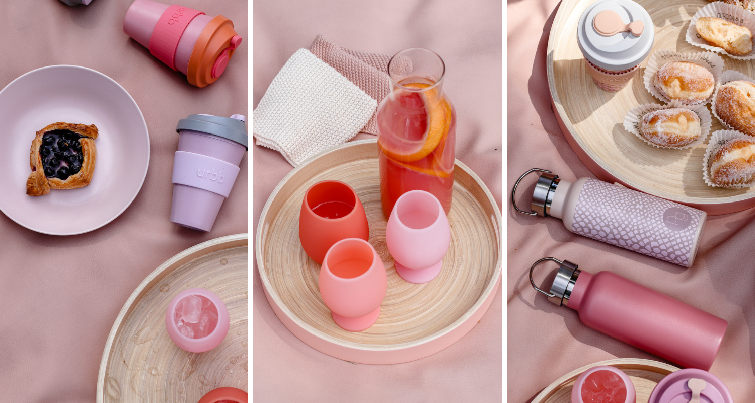 pink porter green picnic with stylish reusable products for a sustainable lifestyle