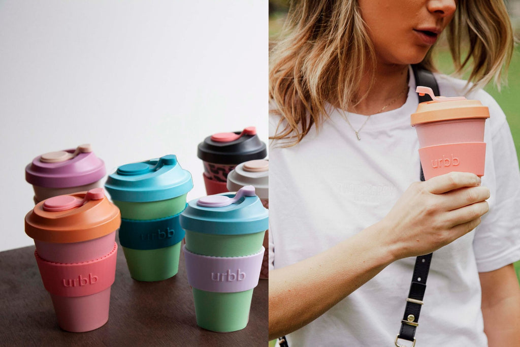 urbb reusable biodegradable bamboo coffee cup bright edit