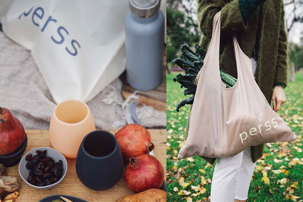perss recyclable reusable shoppiing bags sacs