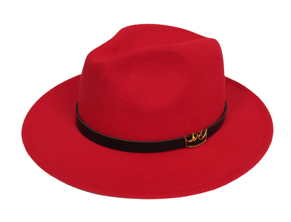 Mercy Fedora ( Red ) - lavishblanc