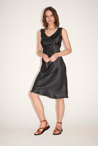 Silk Polka Dot Federika Dress