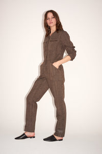 Cotton Long-sleeved Jumpsuit