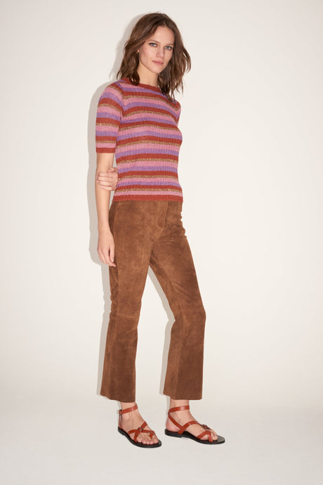 Fauve Suede Bootcut Trousers