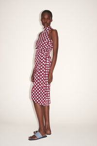 Halter Neck Polka Dot Dress