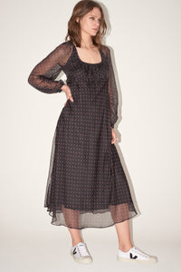 Black cotton empire dress