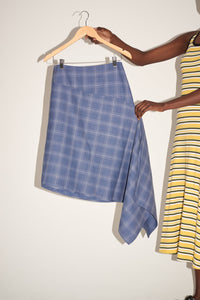 Ellie Asymmetric Checked Skirt