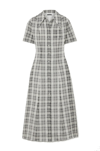 Seersucker Midi Shirt Dress