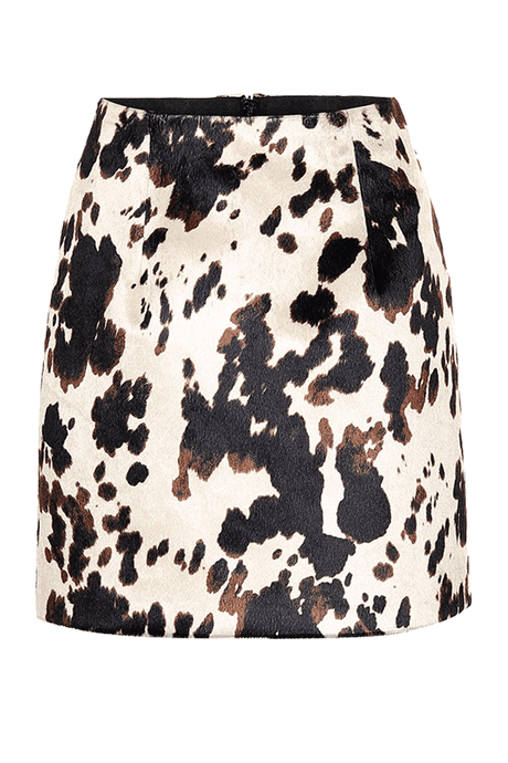 Cow-Print Mini Skirt