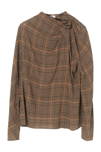 Prince of Wales check blouse