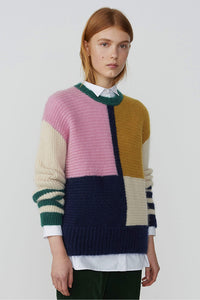 Patchwork Knit Jumper