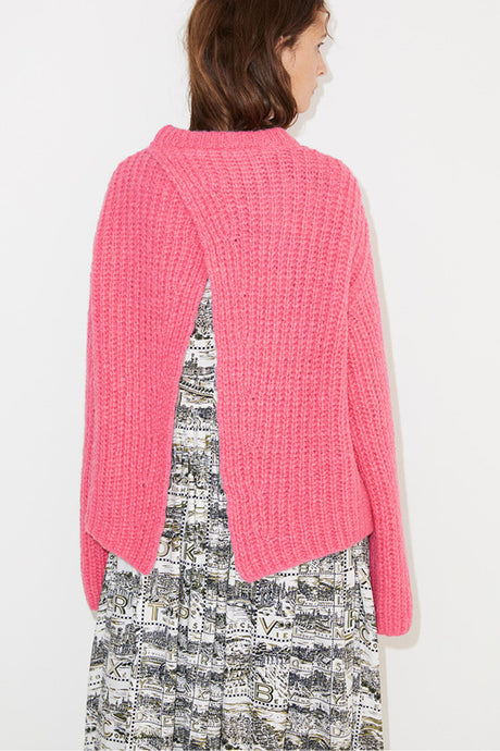 Nosema Oversized Pink Sweater