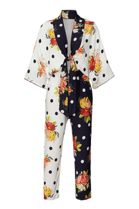 Nanaju mixed print jumpsuit