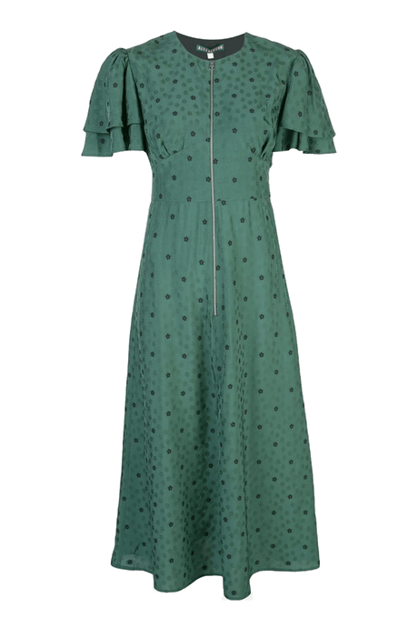Evergreen Zip Midi Dress