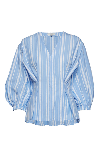 Puff sleeved organic cotton blouse