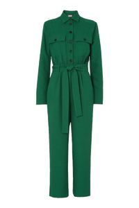 Green tailored jumpsuit