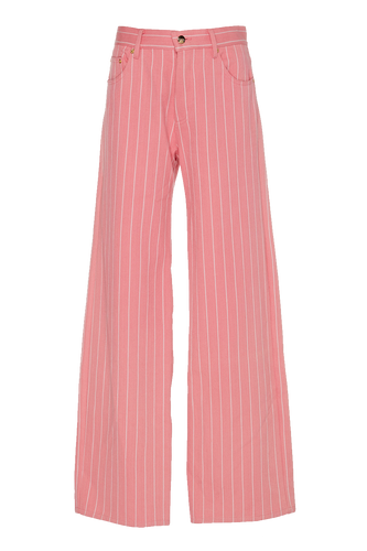 Candy Striped Denim Trousers