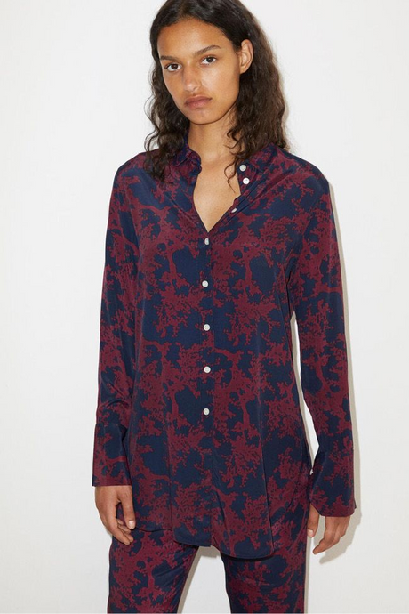 Antique Floral Pyjama Shirt