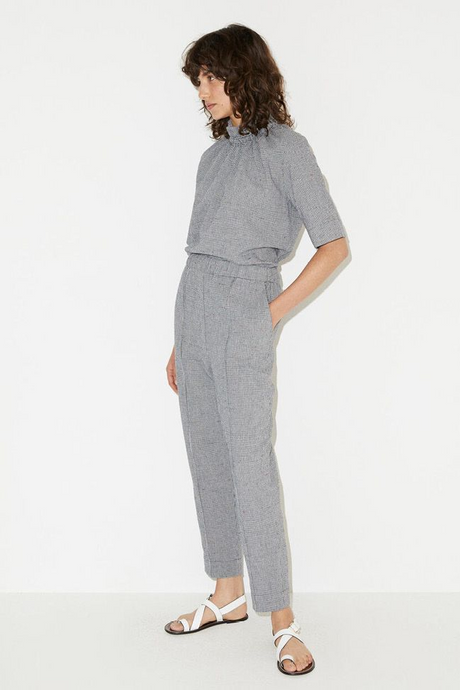 Relaxed Fit Houndstooth Trousers