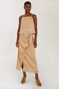 Tasmin Tan Cropped Top