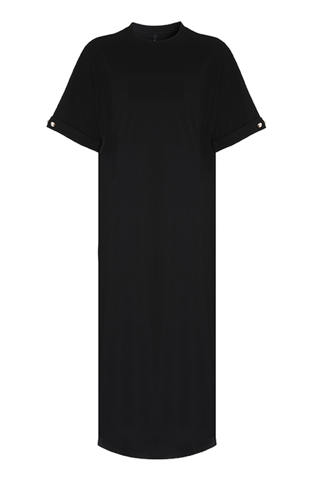 Grace T-shirt Dress With Pearl Bar Detail