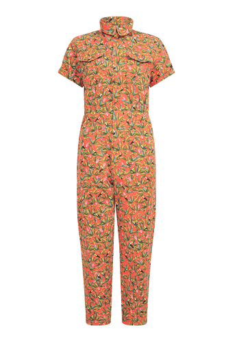 Tucano printed denim jumpsuit