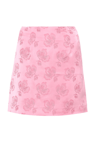 Rose Jacquard Mini Skirt