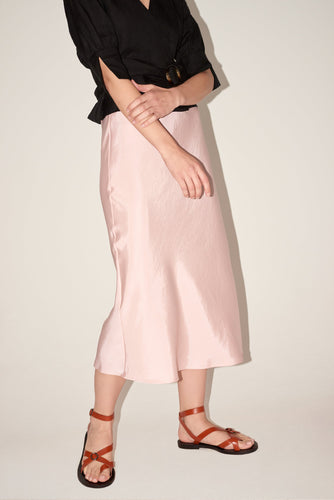 Fever Satin Midi Skirt