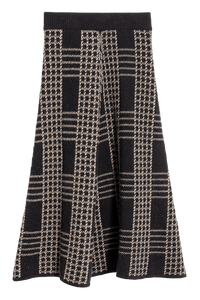Lambswool knit midi skirt