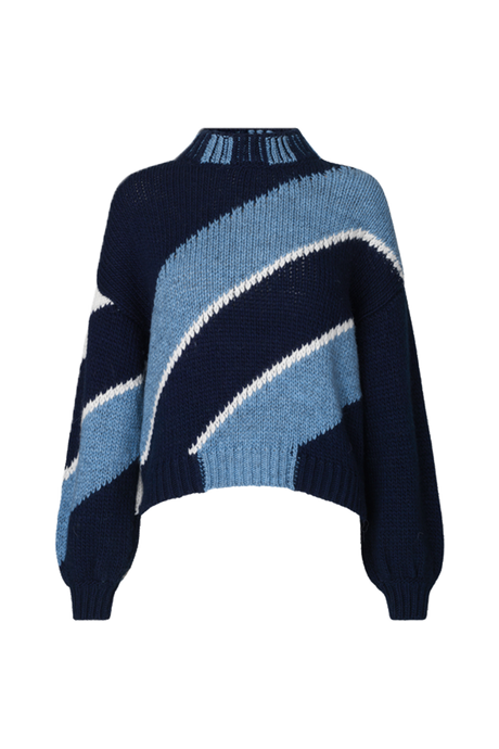 Adonis Diagonal Navy Jumper
