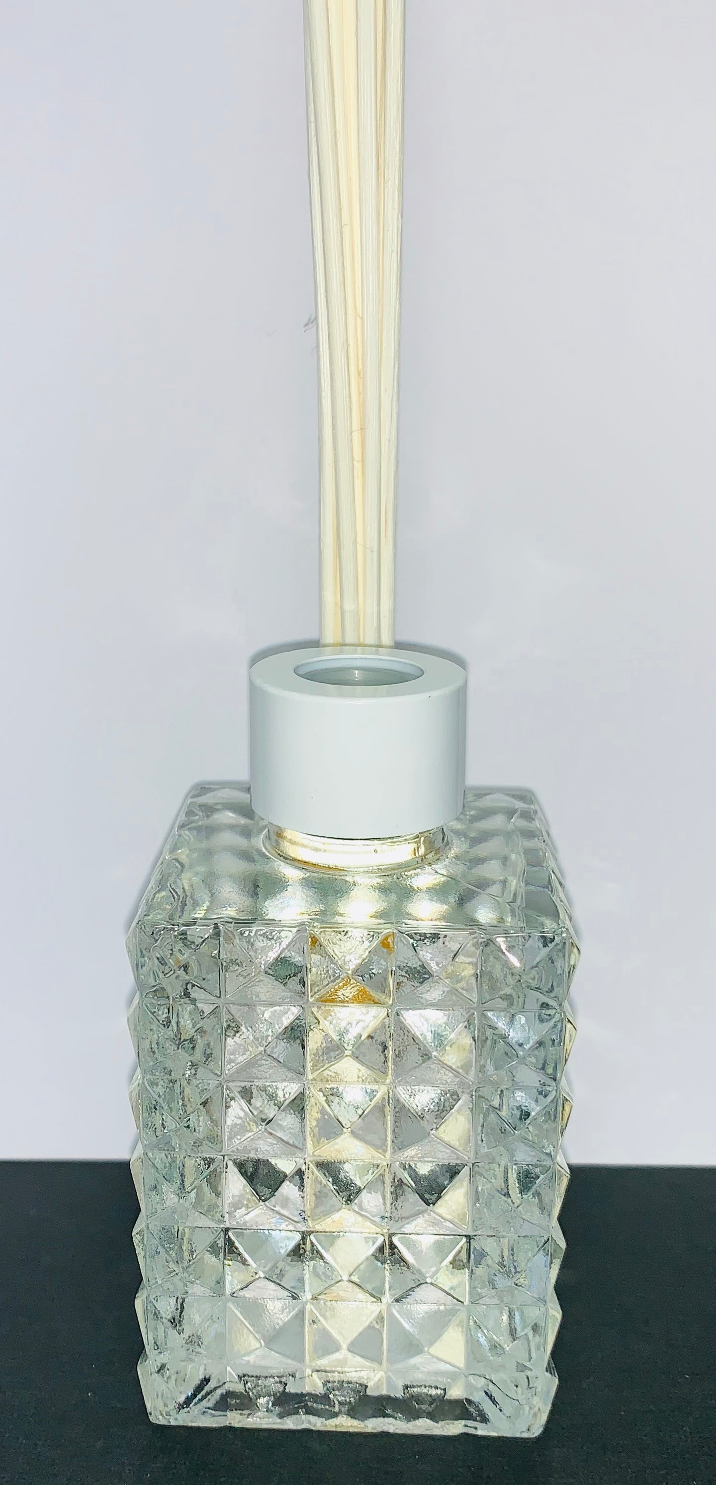 Natural Reed Diffuser - Clear Square Geo