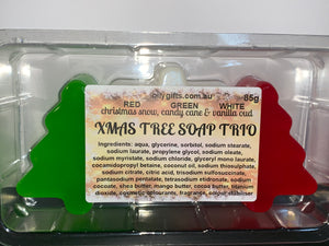 Xmas Tree Soap Trio Pack